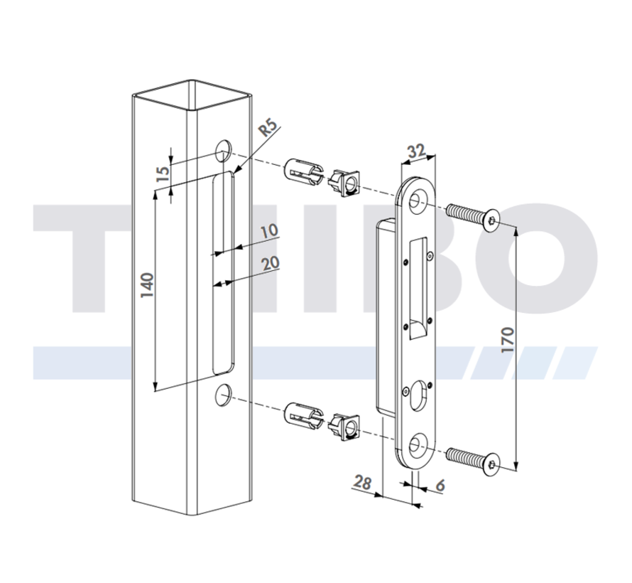 Stainless steel keep for HCOMPACT
