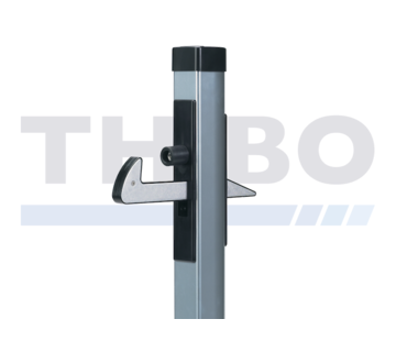 Aluminium gate hold-back catch