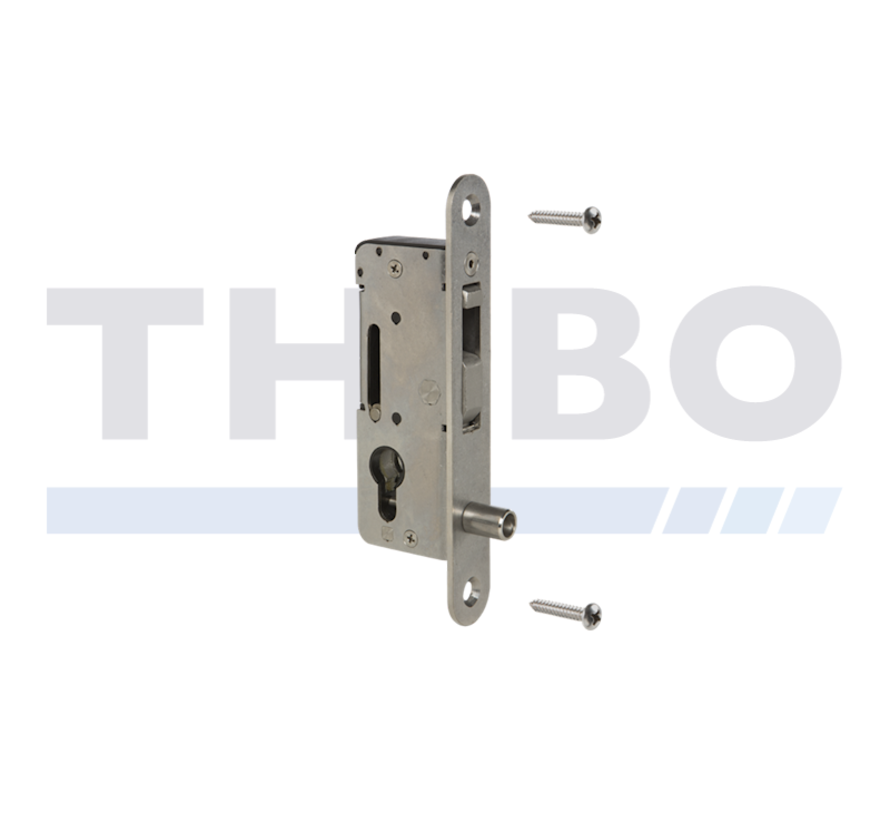 Handleless stainless steel insert lock with hook