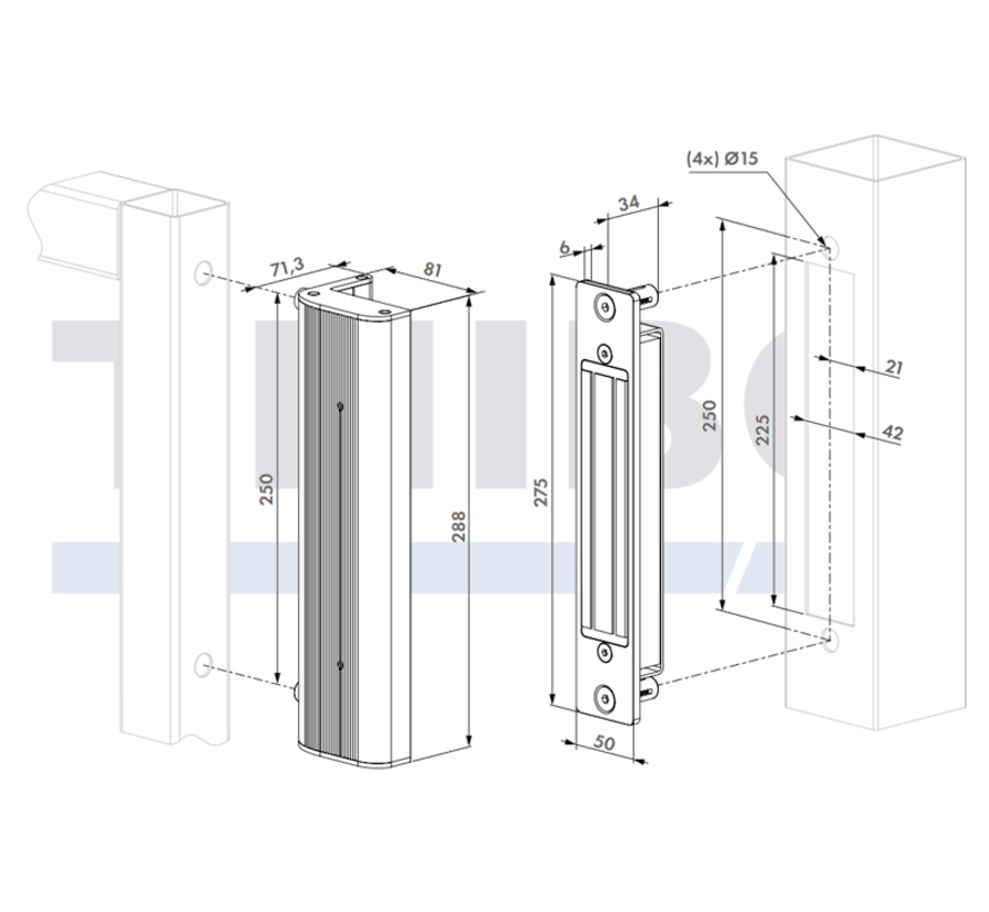 Integrated magnet lock for swing gates