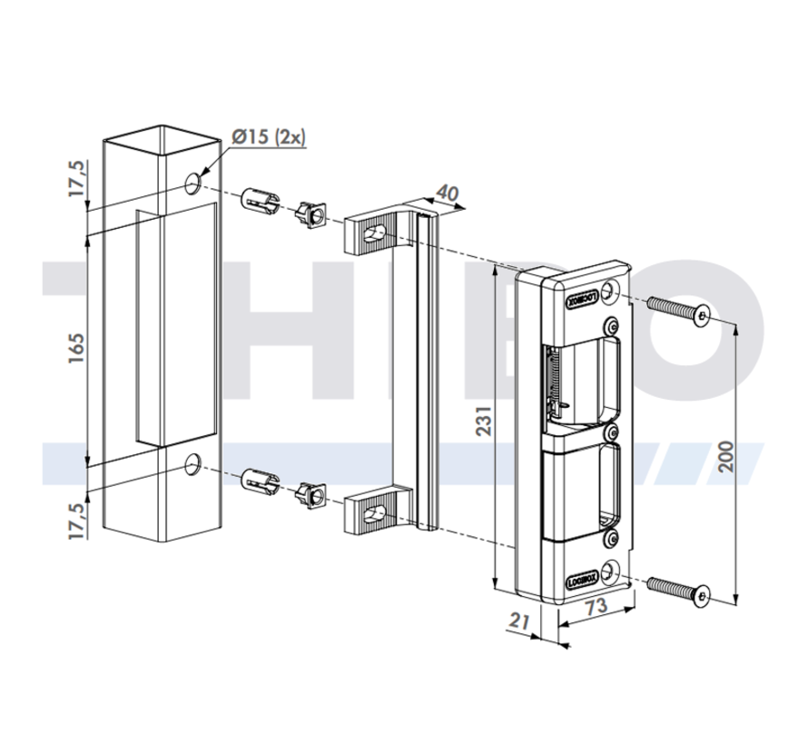 Electric keep for insert locks