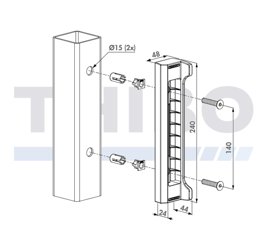 Polyamide keep for Fortylock, Fiftylock and Sixtylock