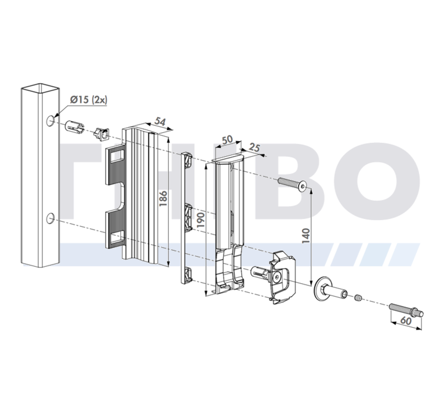 Adjustable security keep out of stainless steel