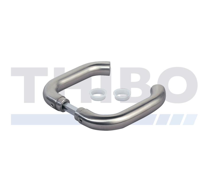 Handle pair in stainless steel