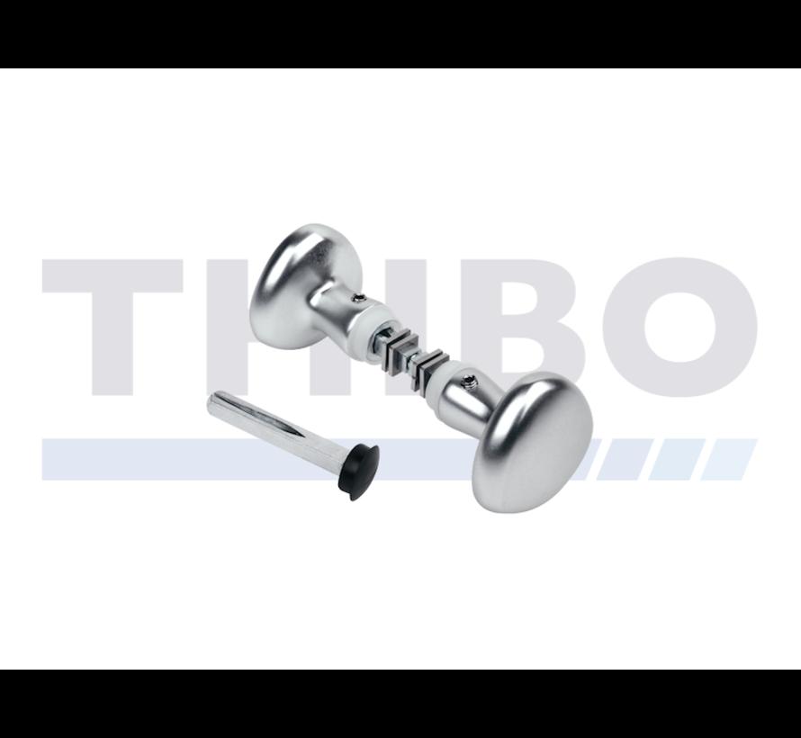 Gerundeter Aluminium-Drückerset
