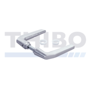 Handle pair made of anodized aluminium