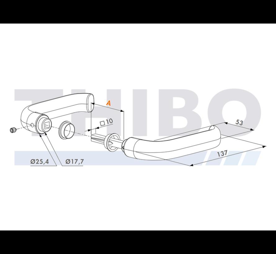 Reinforced aluminium handle pair
