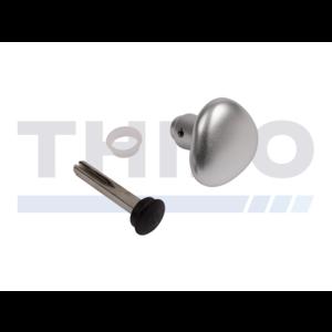 Demi poignée ronde en aluminium - Un côté aveugle