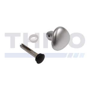 Locinox Half aluminium round handle - One side blinded