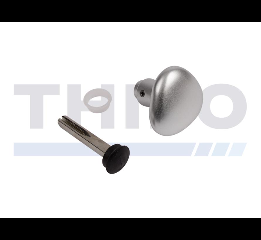 Half aluminium round handle - One side blinded