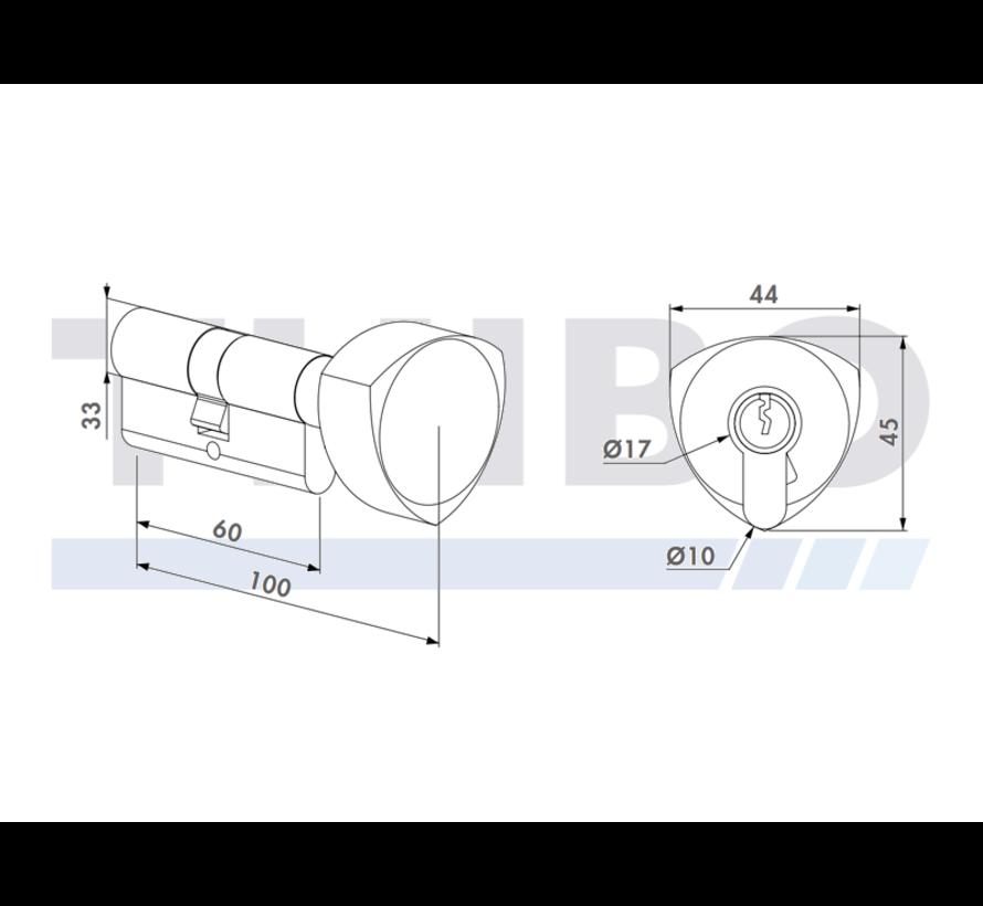 60 mm knob cilinder