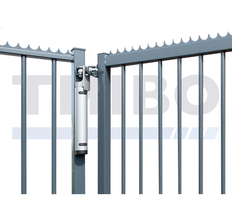 Aesthetical 180° gate closer with direct connection to the hinge - Rhino