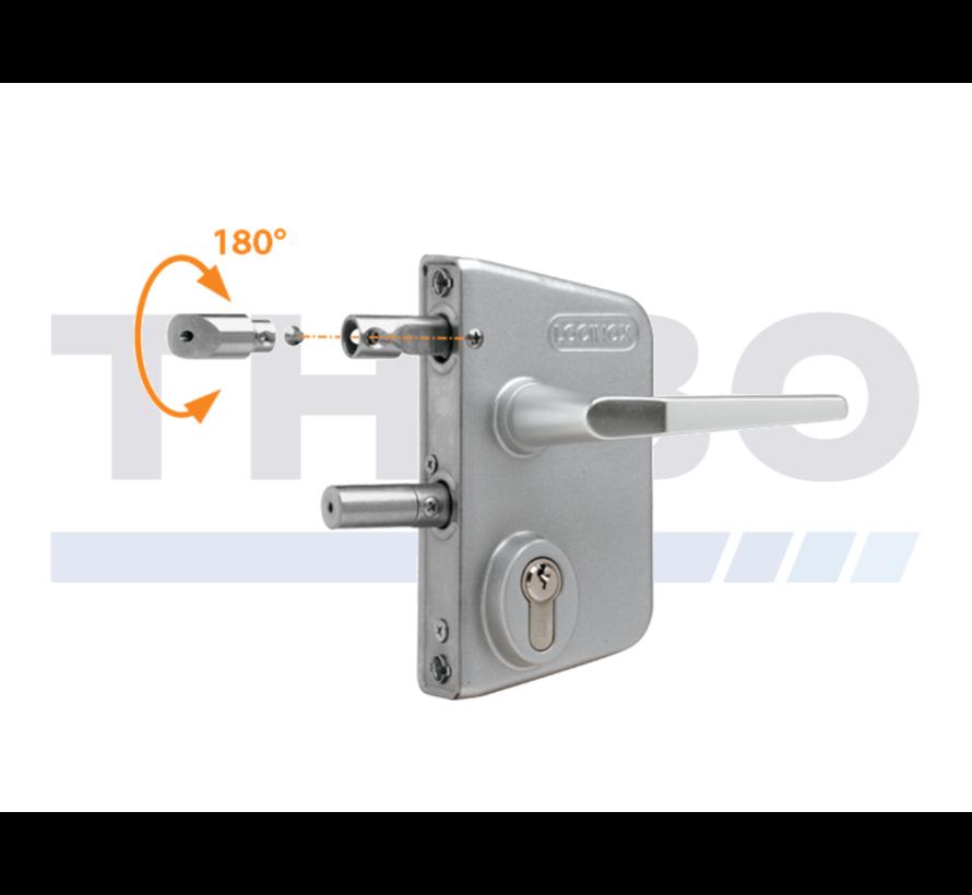 Surface mounted gate lock