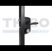Surface mounted US Mortise cylinder gate lock