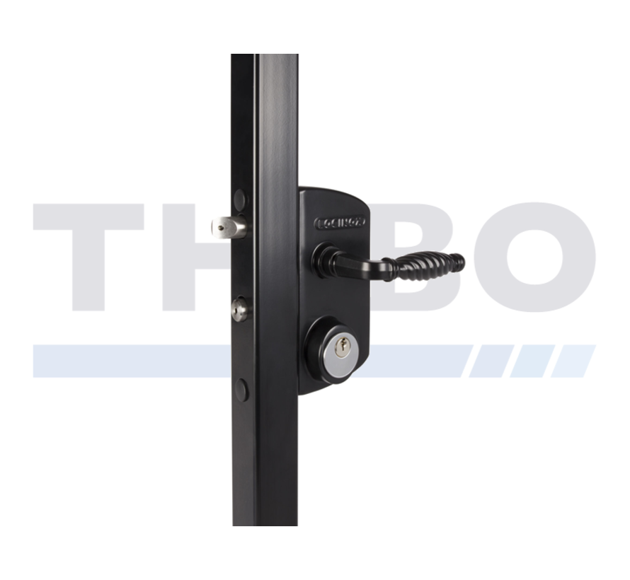Surface mounted US Mortise cylinder gate lock