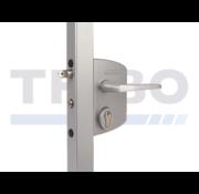 Surface mounted anti-panic gate lock