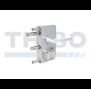 Thibo Surface mounted double cylinder gate lock for swing gates