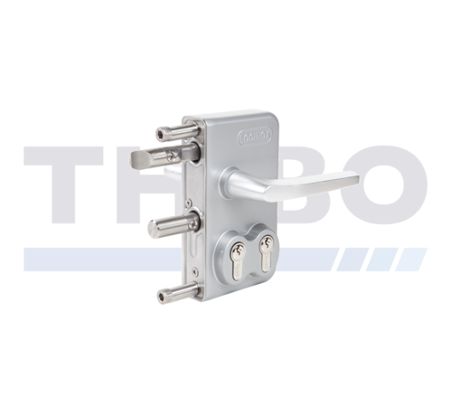Locinox Surface mounted double cylinder gate lock for swing gates