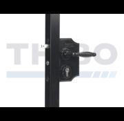 Large surface mounted ornamental gate lock