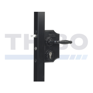Large surface mounted ornamental gate lock