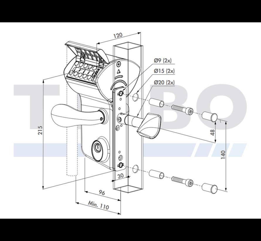 Mechanisches Codeschloss für Schiebetore - Leonardo