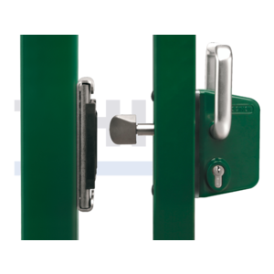 Surface mounted sliding gate lock