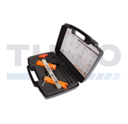 Tool case for surface mounted lock and keep