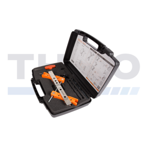 Coffret à outils pour serrure et gâche en applique