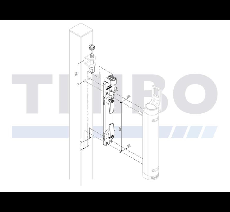 Montage- und Bohrschablone für Rhino-Torschließer