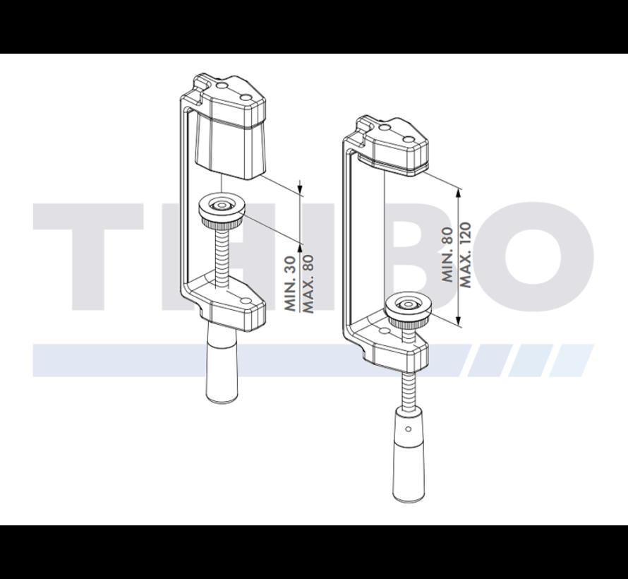 Werkzeugkoffer mit 4 Locinox-Spannvorrichtungen