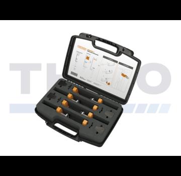 Locinox Werkzeugkoffer mit 4 Locinox-Spannvorrichtungen