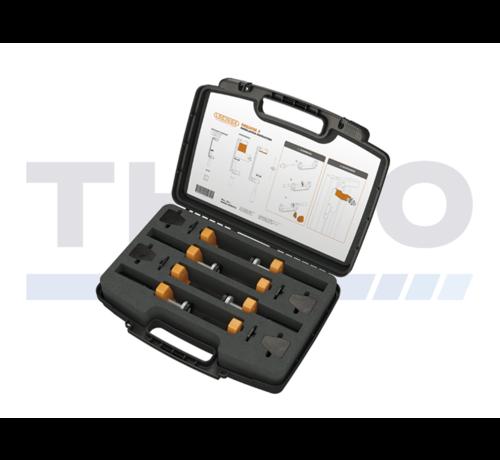 Locinox Toolbox with 4 Locinox clamps