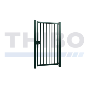 Single Vesta swing gate with round bars