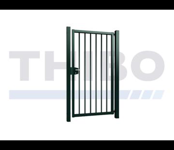 Thibo Single Vesta swing gate with round bars