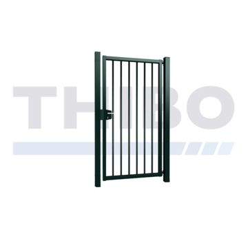 Thibo Single Vesta swing gate with round bars