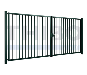 Thibo Double swing gate Vesta with round bars