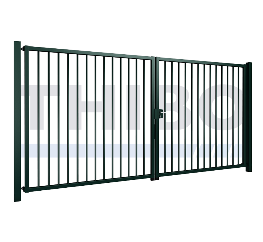 Double swing gate Vesta with round bars
