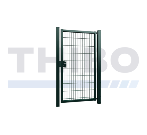 Thibo Single Minerva swing gate with double wire panel filling