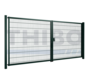 Double swing gate Minerva with double wire panel filling