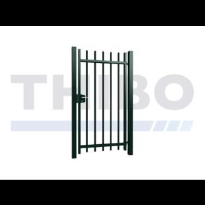 Portillon pivotant Arena simple avec des barreaux carrées
