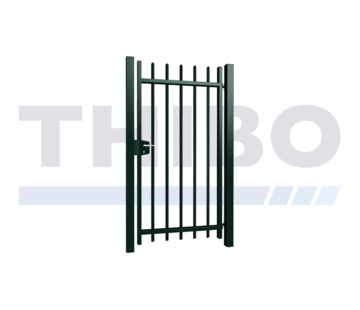 Thibo Metalen spijlenpoort enkel met vierkante doorgestoken spijlen - Arena