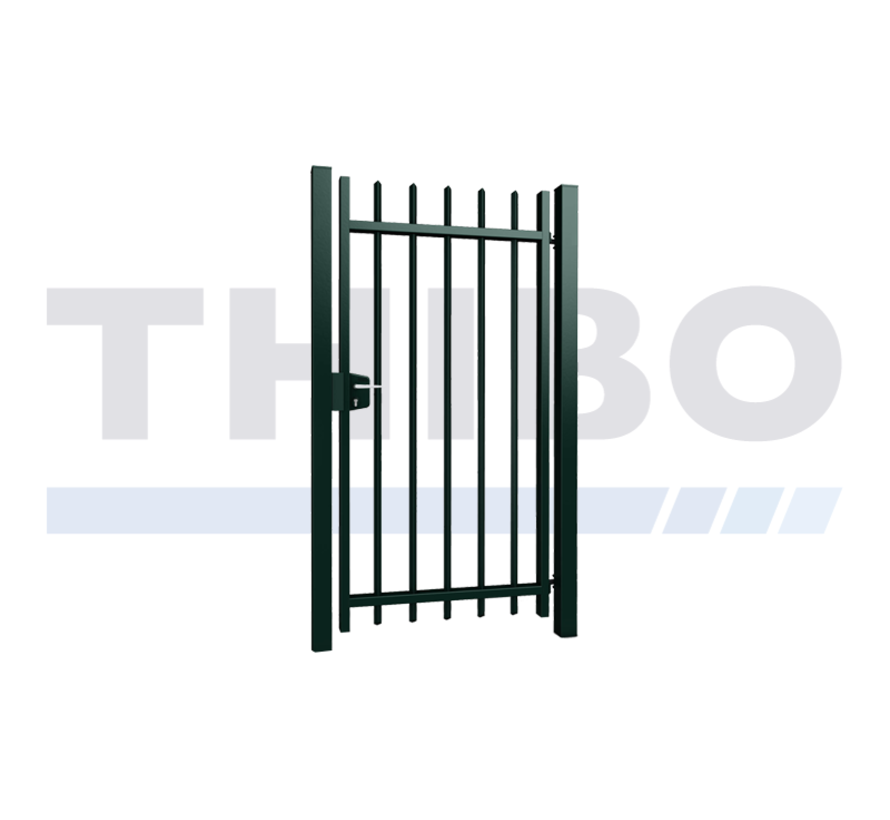 Single Arena swing gate with square bars
