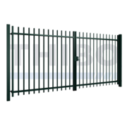 Thibo Double swing gate Arena with square bars