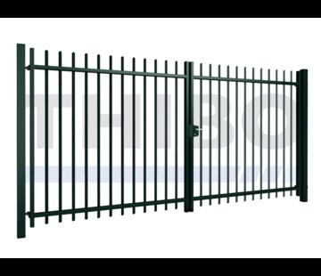 Portillon pivotant Arena double avec des barreaux carrées