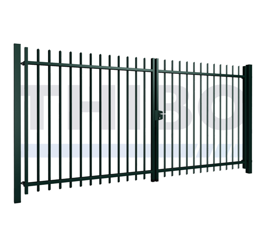 Double swing gate Arena with square bars