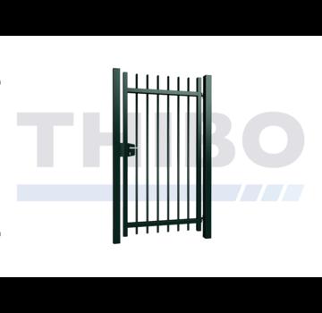 Thibo Einfaches Gitterzaun Drehtor Orion mit runde Stäbe