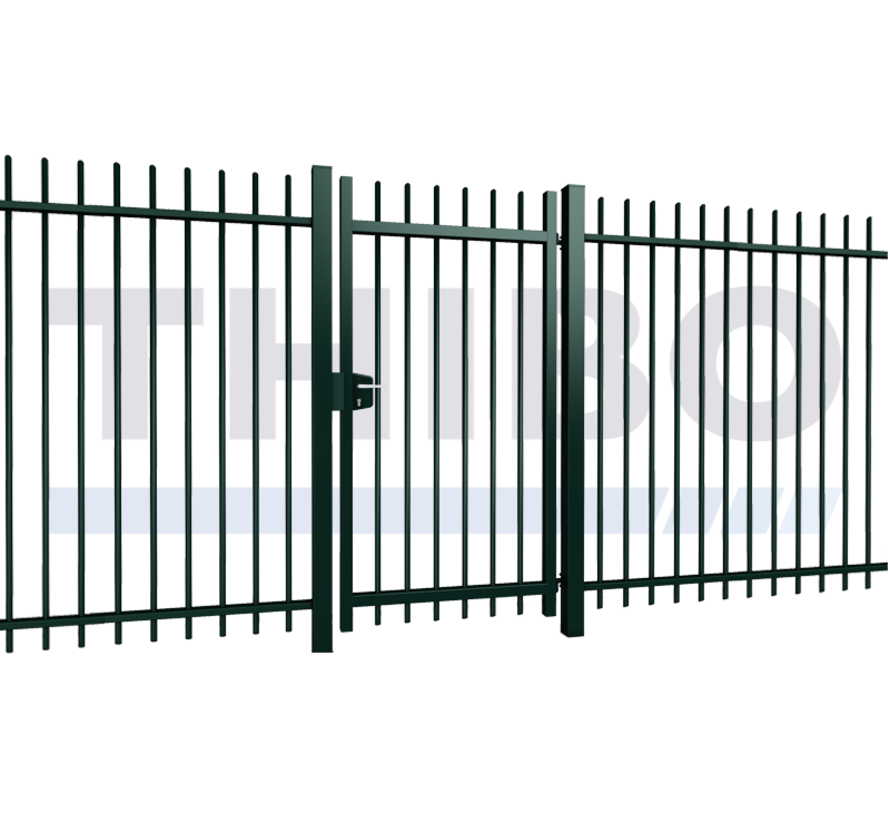Single Orion swing gate with round bars