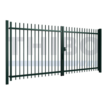 Thibo Double swing gate Orion with round bars