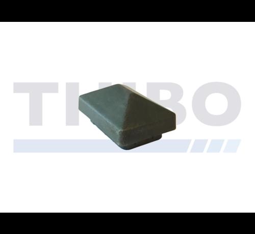 Thibo Kunststof paaldop met dakje t.b.v. koker 60x40 mm
