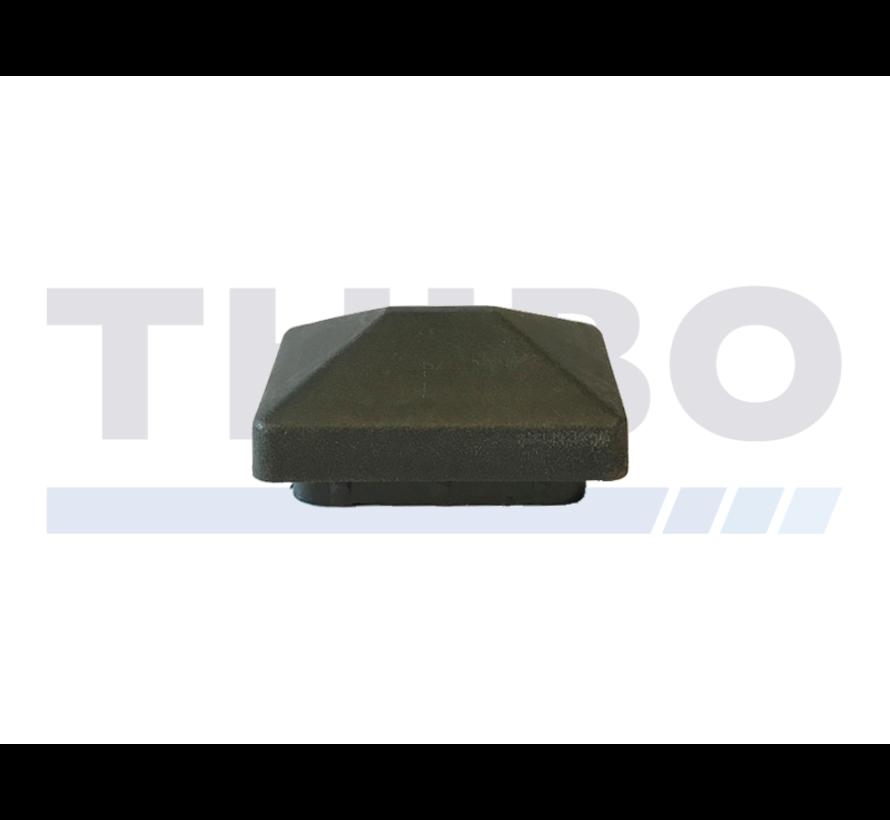 Capuchon en plastique pour tube 60x40 avec toit